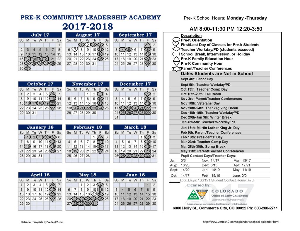 VPA/CLA Calendar - Community Leadership Academy Community Leadership ...